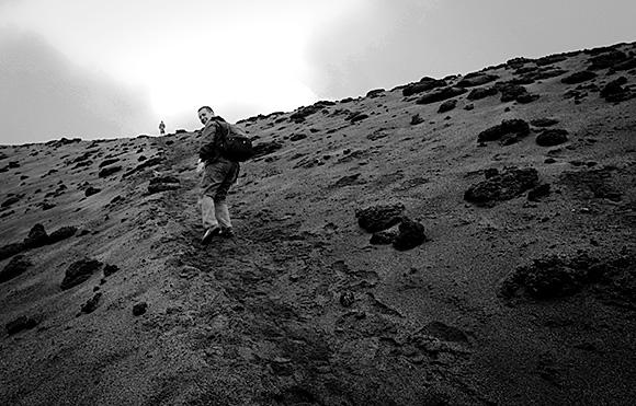 Climbing yasur 2