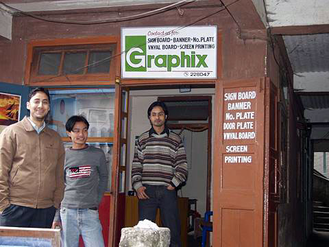 Atelier de signmaking in Gangtok