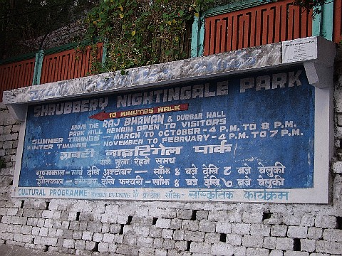 Nightingale Park Sign
